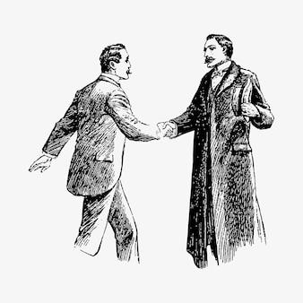 握手する紳士