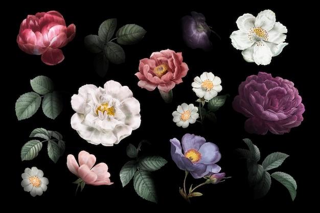Старинные цветочные рисунки