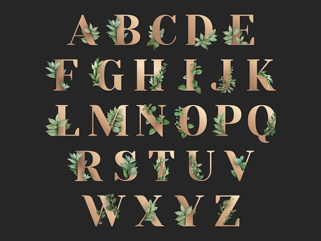 植物をテーマにしたアルパベット
