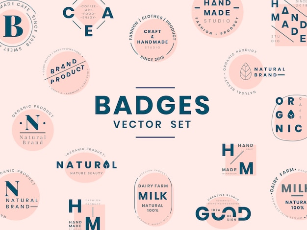 Набор логотипов дизайн векторов