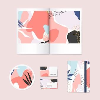 メンフィスデザインパターン会社ブランドベクトル