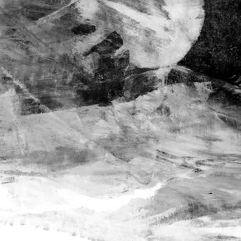 Черно-белый акриловый мазок текстурированный фон вектор