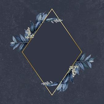 Элегантная рамка из листьев растений