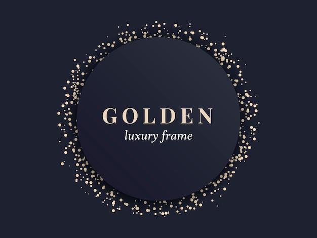 Золотая роскошная рамка