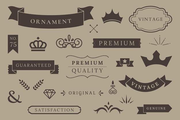 プレミアム品質のバナーコレクション