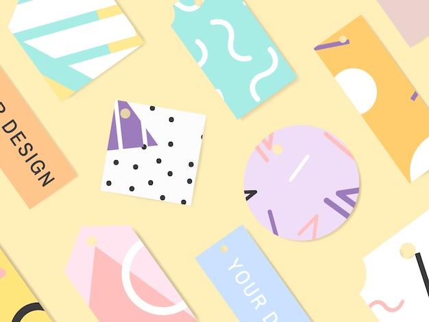 メンフィス柄カードコレクション
