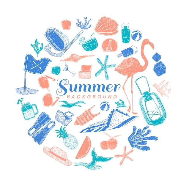熱帯の夏の背景