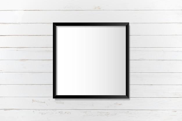壁に黒い空白の枠
