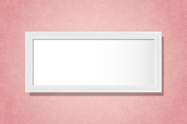 壁に白い空白の枠