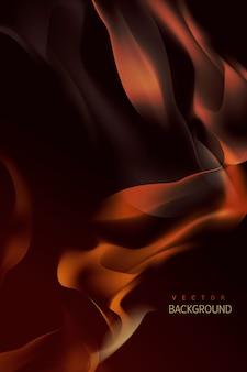 Горящий фон пламени