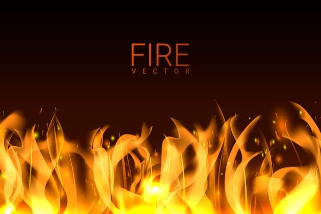 燃える火の背景