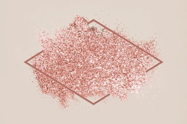 ピンクのグリッター汚れ
