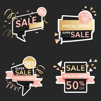 Знаки праздничной распродажи