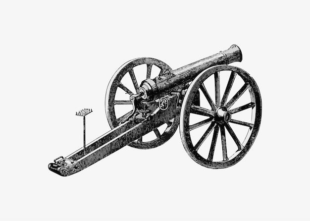 ドイツの戦場の大砲