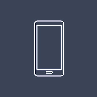 携帯電話アイコンのベクトル