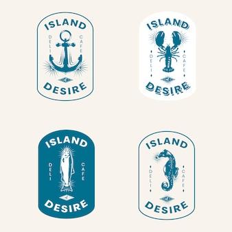 Старинные морские логотипы