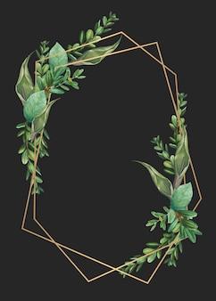 Значок в рамке листвы