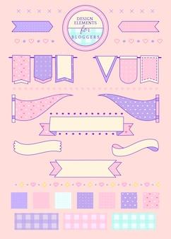 Розовые ленты и значки