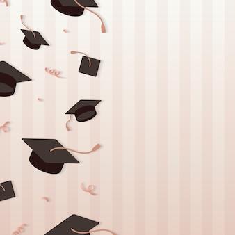 卒業帽子フレーム