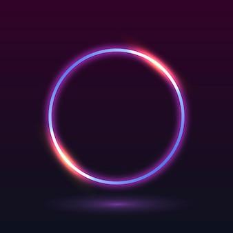 Рамка неонового света