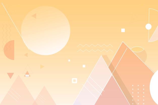黄色のピラミッドの背景
