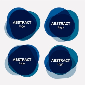 抽象的な背景デザインのセット