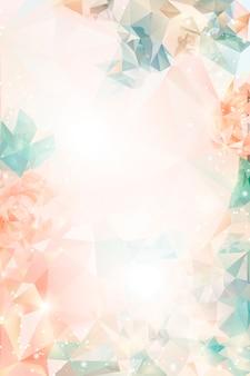 Мечтательный цветочный фон