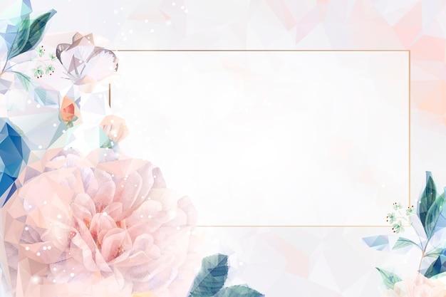 夢のような花の背景のフレーム