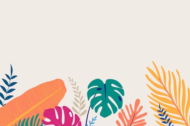 Тропический дизайн пространства