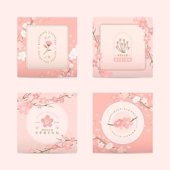 Привет весна, набор открыток