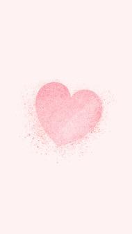 ピンクのハートのバナー