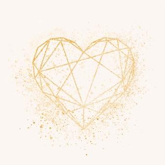 Значок золотое сердце