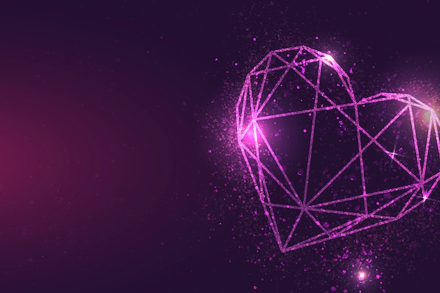 Розовое сердце баннер