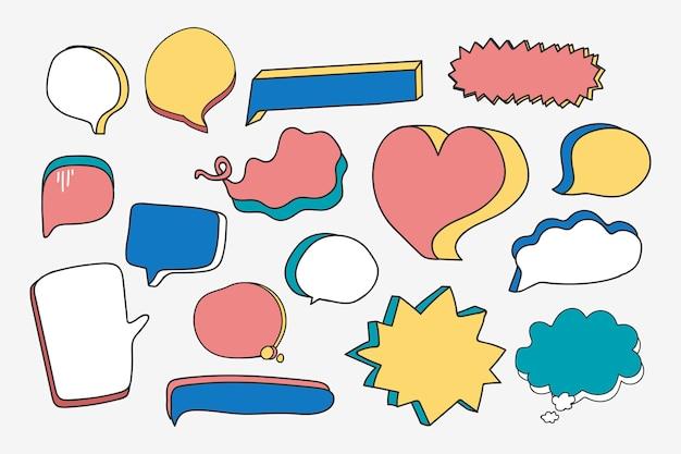 Пустой набор речи пузырь