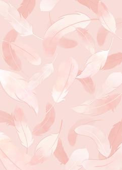 ピンクの羽の背景