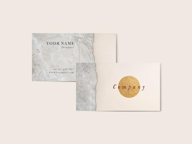 Минимальный роскошный шаблон визитной карточки