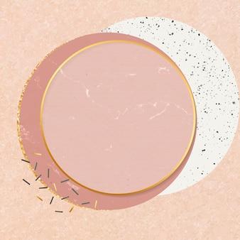 Женский дизайн круговой рамки