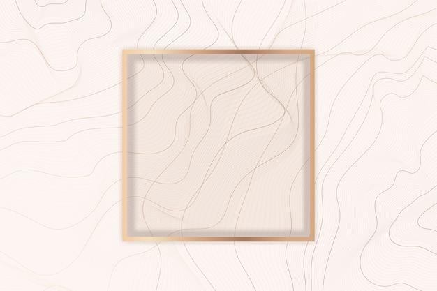 Контурная линия фоновой рамки