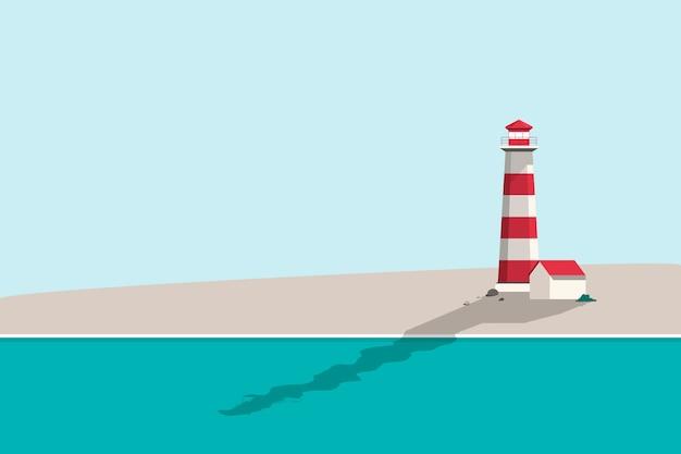 夏のビーチの背景イラスト