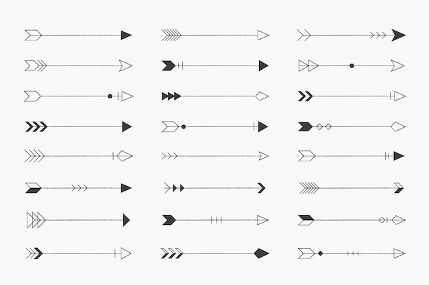 ビンテージ矢印のセット