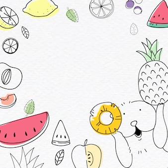Симпатичный фруктовый фон