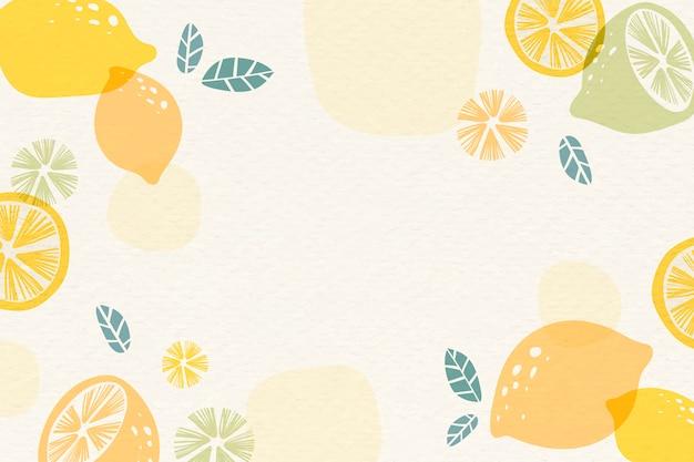 黄色いレモンの背景