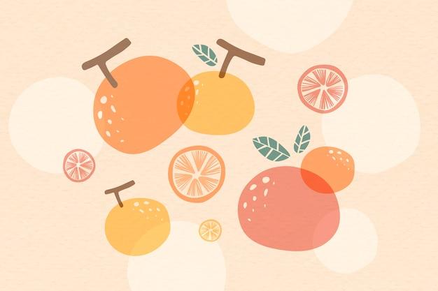 オレンジ色の夏の背景