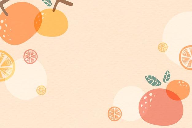 Оранжевый летний фон