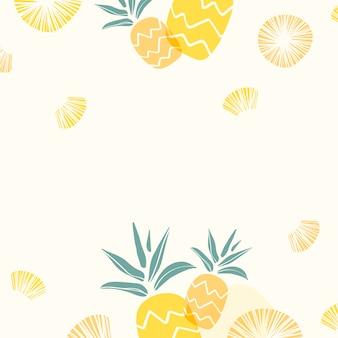 黄色のパイナップルの背景
