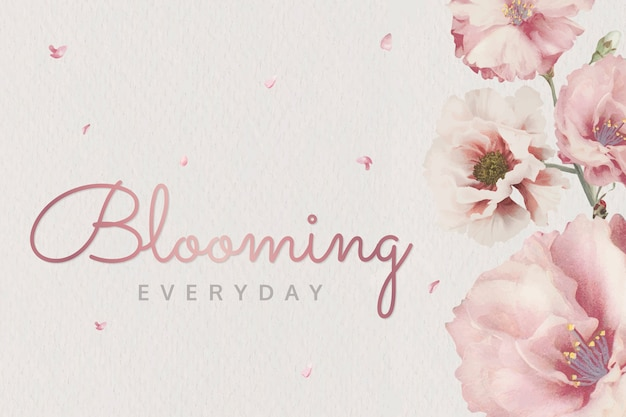 ピンクの咲く花