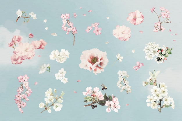 ピンクの花セット
