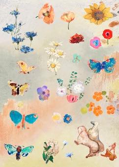 Набор масляных красок для цветов