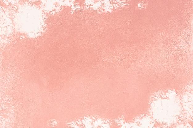 キャンバスの背景を描いたピンクの油