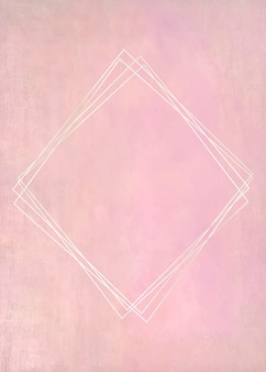 Пустая рамка на пастельной розовой краске